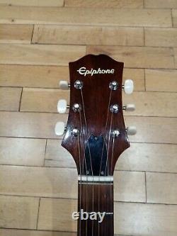 Rare 70s Mij Epiphone Guitare Acoustique, Fabriqué Au Japon, Beau Cou, Action Parfaite