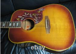 Rare Gibson Hummingbird Personnalisé Guitare Acoustique Made In USA 1973 Hard Case