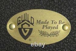 Rare Guild F-50r Double Pickguard Guitare Acoustique Naturelle Avec Hard Case USA Made
