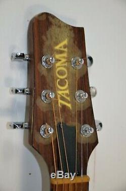 Rare Pré-fender Tacoma Em 10ce4 Guitare Acoustique, Made In Usa, En Bois Massif