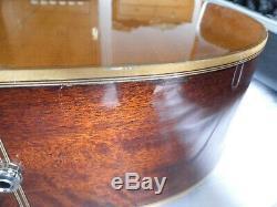 Rare Vintage 1979 Washburn D-60sw Tout Solide Guitare Acoustique En Bois Fait Par Yamaki