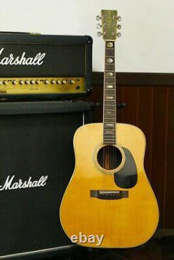 Rare Vintage Yamaki 1970's Acoustic Guitar F-160 All Corps Solide Fabriqué Au Japon