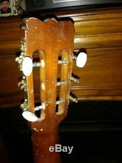Rare! Vtg 1969 S. Yairi Hand Made # 41 Signé Japon Ad Acoustique Réparation Ou Guitare