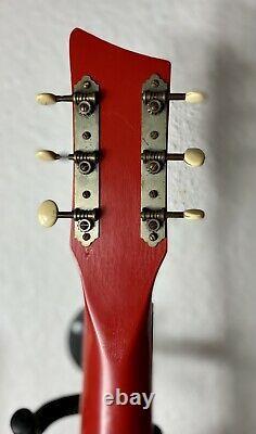 Rosetti Chanceux 7 Vintage Guitare Électrique Semi Acoustique. Rare Fabriqué En Hollande