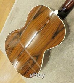 S. Yairi Yn-120 Guitare Tête De Fente Acoustique Faite Au Japon Avec Étui Rigide