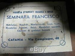 Seminara Francesco Acoustique Folk Sunburst Guitare Made In Catania Italie Projet