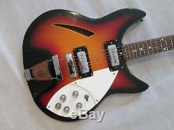 Shaftesbury 3261 Guitare Semi-acoustique Très Début Des Années 70 A Fait En Italie
