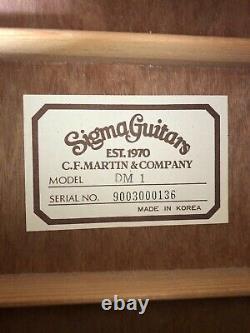 Sigma Dm-1 Guitare Acoustique Dreadnought Fabriquée En Corée (martin) Avec Boîtier