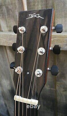 Superbe Bsg J27 F Rosewood Guitare Acoustique En Bois Massif Fabriqué À La Main