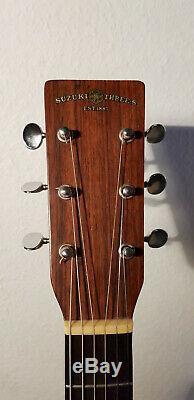 Suzuki Threes F-130 Folk-gitarre Fabriqué Au Japon Des Années 1970 Rare Bon État