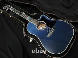 Takamine Ltd2021 -blue Rose- 2021 Guitare Acoustique Modèle Limité Fabriquée En Japan