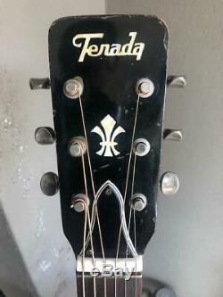 Terada Gu3561 Guitare Acoustique 6 Cordes Made In Japan Mij 1980