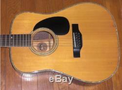 Tf Morris B-50 12-string Made In Japan-80 1970's Vintage Guitare Acoustique