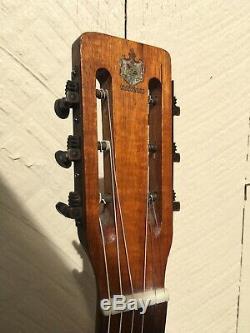 Tres Rare Hawaï Made Tabu Tous Koa Guitare Acoustique 1930 Vintage