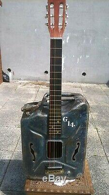 Unique Vintage Ww2 Jerry Peut En Main Six Cordes Acoustique Guitare Électrique