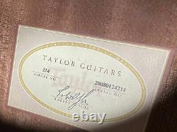 Utilisé Taylor Left Handed 214 États-unis Fait Guitare Acoustique Avec Boîtier Tayor Hard Shell