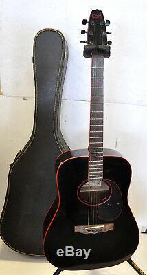 Vendange Tardive 80 Cort Aj881 Bordure Noire De Bande Rouge Guitare Acoustique Fabriquée En Corée