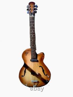 Vintage 1960 Guitare Électrique Eko Modèle 100 Corps Creux Fabriqué En Italie