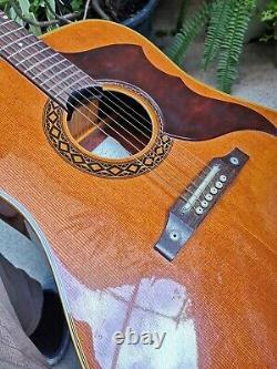 Vintage 1967 Eko Ranger 6 VI Guitare Acoustique Made Italia Retro Italie Great Sound