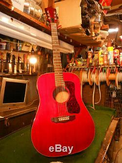 Vintage 1978 Guild Guitare D-25c Acoustique, Usa-made Soft Case