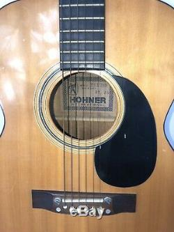 Vintage 1978 Hohner Hgk299 Guitare Acoustique 6 Cordes Made In Korea Mint