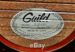 Vintage 1979 Guild D-25m Acoustique, Usa-made, Gdcond. Joueur Fort, Étui Souple