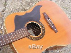 Vintage 60 De 70 De Eko Handed 6 Cordes Droite Guitare Acoustique Made Recanati Italie
