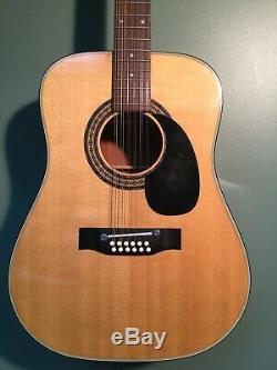Vintage Alvarez Modèle 5021 12 Cordes Guitare Acoustique Made In Japan