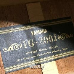 Vintage Années 1970 Yamaha Fg-200j Black Label Guitare Acoustique Made In Japan Tgj