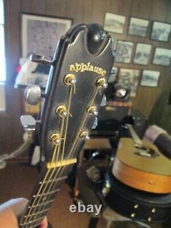 Vintage Applause Par Ovation Modèle Aa14-7 Acoustic Guitar USA Made Circa 1980s