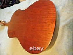 Vintage Aria Classic 6 String Acoustic Guitar Mod A551b Avec Sac. Fabriqué Au Japon