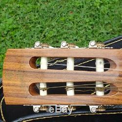 Vintage Giannini Mpb Guitare Acoustique Fabriqué Au Brésil Avec Le Cas