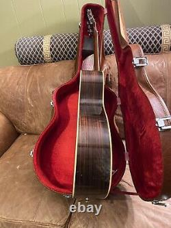 Vintage Guitare Epiphone Acoustique Naturelle Made Japon Mère Des Années 1970 Perle