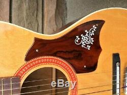 Vintage Harmony Stella Guitare Renforcé D'acier Neck Made In USA W / Cas
