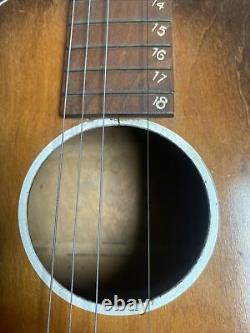 Vintage Late 30's Regal Acoustic Appr 40 Guitar Rounded Neck Made In Chicago