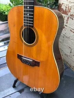 Vintage Maton Fg150/12 12 Cordes Acoustic Guitar 1970s Made In Australia