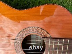 Vintage Mervi Classique Flamenco/spanish Guitare Acoustique Fabriqué En Espagne Dans Les Années 1970
