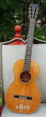 Vintage Parlour 1920 Guitare Sans Étiquette A. Galiano Probablement Raphael Ciani Fait