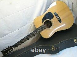 Vintage Sigma De Martin Dm-5 Guitare Acoustique Fabriqué Au Japon Avec Boîtier Dm5