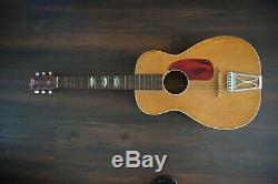 Vintage Stella Harmony 3/4 Parlor Guitare Acoustique-made In U. S.