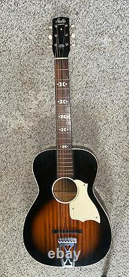 Vintage Stella Harmony H929 Guitare Acoustique Nouvelles Cordes 36 USA Made Free Shippg