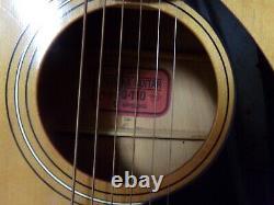 Vintage Yamaha Fg-110 Guitare Acoustique Avec Étui, Mi-70's Made In Japan
