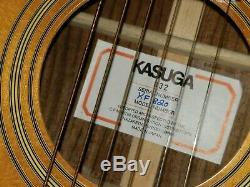 Vtg Made In Japan 1970 Par Kasuga Gakki Kf 820 6 Cordes Guitare Acoustique
