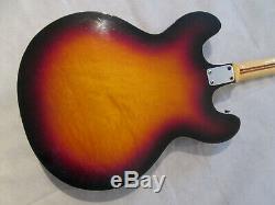 Welson Guitare Semi-acoustique Ds3 Fin Des Années 60 A Fait En Italie D'origine Fabuleuse