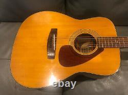 Yamaha Fg160 Guitare Acoustique, Made In Taiwan 1972. Pas De Pauses Ou De Réparations