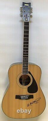 Yamaha Fg-201 Acoustic Guitar Made In Japan With Hard Case Brian Mcknight Signé