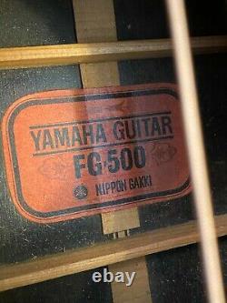 Yamaha Fg-500, 1971 Nippon Gakki, Haut Solide Fait À La Main